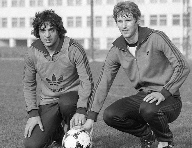 Леонид Буряк с другом на тренировке